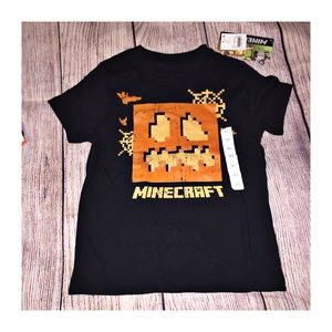 Halloween Minecraft T-shirt Size XS